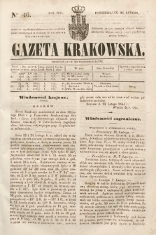 Gazeta Krakowska. 1844, nr46