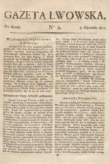 Gazeta Lwowska. 1817, nr5