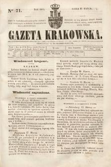 Gazeta Krakowska. 1844, nr71