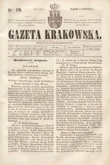 Gazeta Krakowska. 1844, nr79