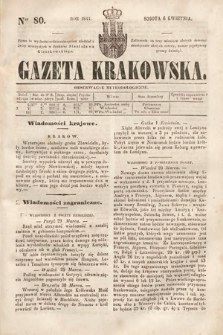 Gazeta Krakowska. 1844, nr80
