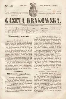 Gazeta Krakowska. 1844, nr83