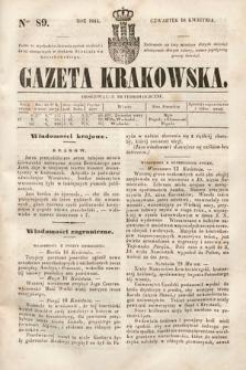 Gazeta Krakowska. 1844, nr89