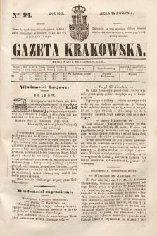 Gazeta Krakowska. 1844, nr94