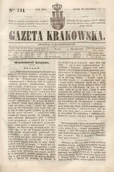 Gazeta Krakowska. 1844, nr144
