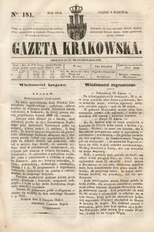 Gazeta Krakowska. 1844, nr181