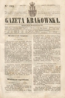 Gazeta Krakowska. 1844, nr182