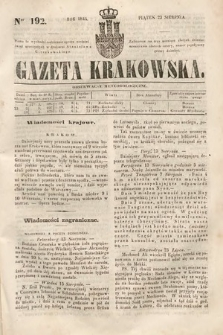Gazeta Krakowska. 1844, nr192
