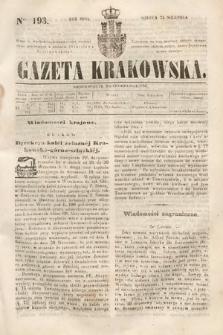 Gazeta Krakowska. 1844, nr193