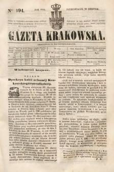 Gazeta Krakowska. 1844, nr194