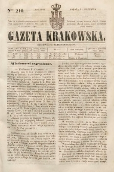 Gazeta Krakowska. 1844, nr210