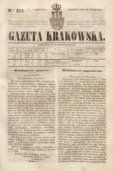 Gazeta Krakowska. 1844, nr211