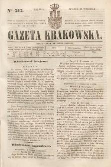Gazeta Krakowska. 1844, nr212