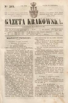 Gazeta Krakowska. 1844, nr215