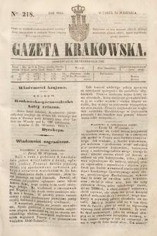 Gazeta Krakowska. 1844, nr218