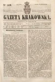 Gazeta Krakowska. 1844, nr219