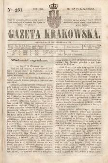 Gazeta Krakowska. 1844, nr231