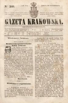 Gazeta Krakowska. 1844, nr240