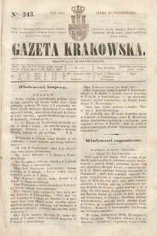 Gazeta Krakowska. 1844, nr243