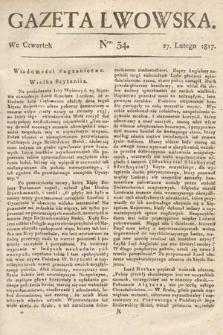 Gazeta Lwowska. 1817, nr34