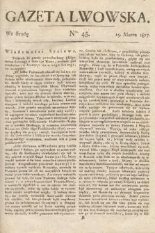 Gazeta Lwowska. 1817, nr45
