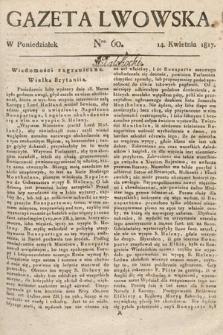 Gazeta Lwowska. 1817, nr60