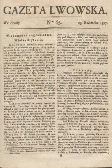 Gazeta Lwowska. 1817, nr65