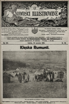 Nowości Illustrowane. 1916, nr39