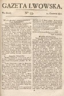 Gazeta Lwowska. 1817, nr93