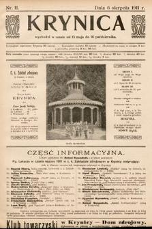 Krynica. 1911, nr11