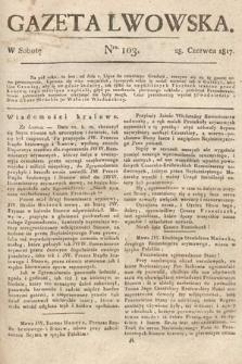 Gazeta Lwowska. 1817, nr103