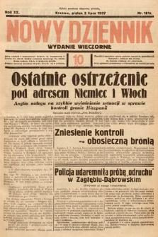 Nowy Dziennik (wydanie wieczorne). 1937, nr181
