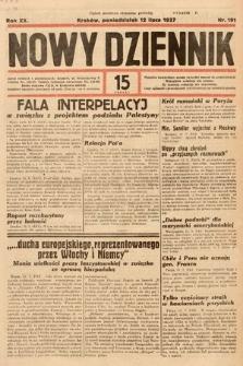 Nowy Dziennik. 1937, nr191