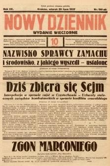 Nowy Dziennik (wydanie wieczorne). 1937, nr199