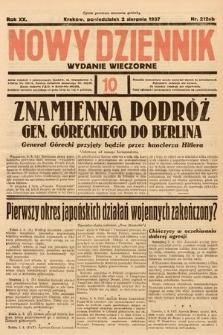 Nowy Dziennik (wydanie wieczorne). 1937, nr212