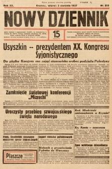 Nowy Dziennik. 1937, nr213