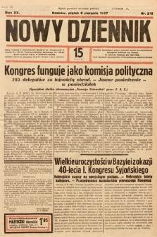Nowy Dziennik. 1937, nr216