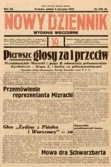 Nowy Dziennik (wydanie wieczorne). 1937, nr216