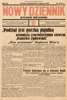 Nowy Dziennik (wydanie wieczorne). 1937, nr218