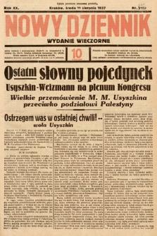 Nowy Dziennik (wydanie wieczorne). 1937, nr221