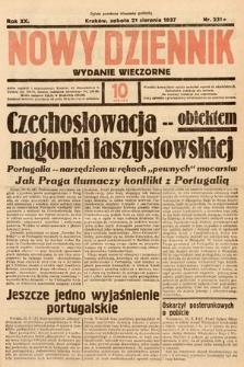 Nowy Dziennik (wydanie wieczorne). 1937, nr231