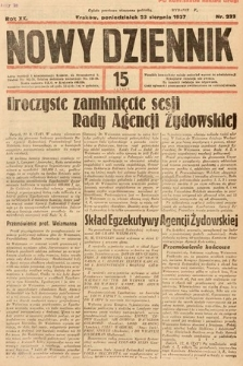 Nowy Dziennik. 1937, nr233