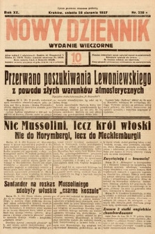 Nowy Dziennik (wydanie wieczorne). 1937, nr230