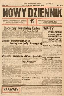 Nowy Dziennik. 1937, nr242