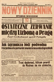 Nowy Dziennik (wydanie wieczorne). 1937, nr244