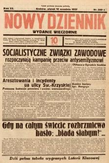 Nowy Dziennik (wydanie wieczorne). 1937, nr249
