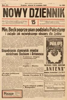 Nowy Dziennik. 1937, nr253