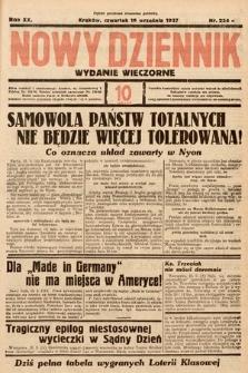 Nowy Dziennik (wydanie wieczorne). 1937, nr254