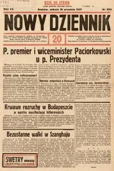 Nowy Dziennik. 1937, nr256