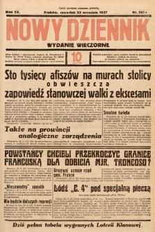 Nowy Dziennik (wydanie wieczorne). 1937, nr261